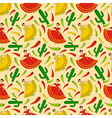mexican women pattern vector image
