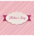 Mothers Day festive Label vector image vector image