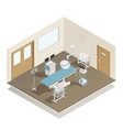 operation room equipment isometric composition vector image vector image