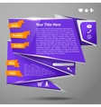Origami website template vector image vector image