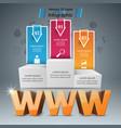 pedestal www internet web - business vector image vector image