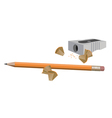 Pencil and Sharpener vector image vector image