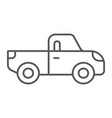 pickup thin line icon transport and automobile vector image vector image