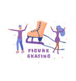 quote figure skating emblem vector image