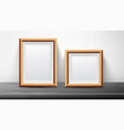 realistic black frame set good for posters vector image