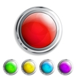 Realistic colored buttons vector image vector image