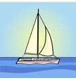 Sailing yacht pop art style vector image vector image