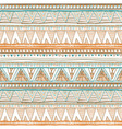 Seamless colorful aztec pattern orange Ethnic vector image vector image