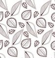 Seamless pattern with abstract leaf vector image vector image