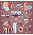 Set of celebration design elements vector image vector image