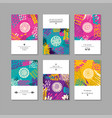 set of creative business card template and flyers vector image