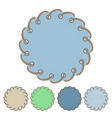 set of round stickers and labels with rope vector image vector image