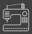 sewing machine line icon household and appliance vector image