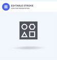 shapes icon filled flat sign solid vector image vector image