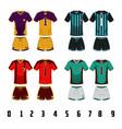 soccer jersey uniform design vector image