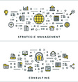 Thin Line Strategic Management and Consulting vector image