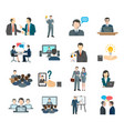 variety business icon set vector image vector image