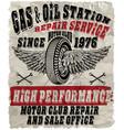 vintage gasoline retro signs and labels gas vector image