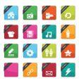 web button badges vector image
