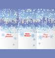 winter new year and christmas booklet design vector image