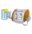 with juice container food bread bin in store vector image