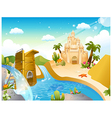 Sandcastle background vector image