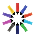 Set od Colorful Markers Office Tools vector image
