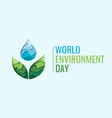 world environment day - waterdrop concept vector image