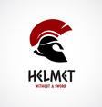 Helmet logo template Greek or Sparta style vector image