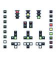 a set of traffic lights vector image