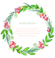 Watercolor floral invitation card vector image