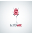wine easter egg design background vector image