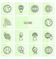 14 globe icons vector image vector image