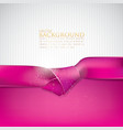 abstract background with pink ribbon vector image vector image