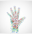 abstract hand of man with dots vector image vector image