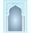 arch in the arabic style vector image vector image