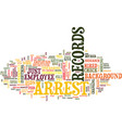 Arrest records text background word cloud concept