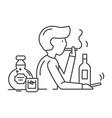 bad habits line icon concept bad habits vector image
