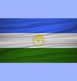 bashkortostan flag bashkortostan flag blowig in vector image