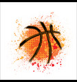 basketball orange grunge background vector image