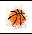 basketball orange grunge background vector image vector image