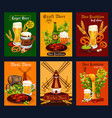 beer drink poster for bar pub or brewery design vector image vector image