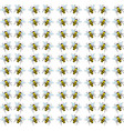 bees wallpaper on white background vector image vector image