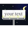 Billboard by night vector image vector image