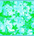 bright green iridescent stars on a light vector image vector image