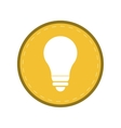 bulb light energy electricity icon yellow circle vector image