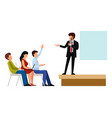 business people groups presentation to vector image vector image