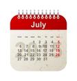 calendar 2015 - july vector image vector image