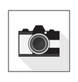 Camera flat icon vector image vector image