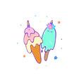 cartoon cute ice cream slogan print vector image